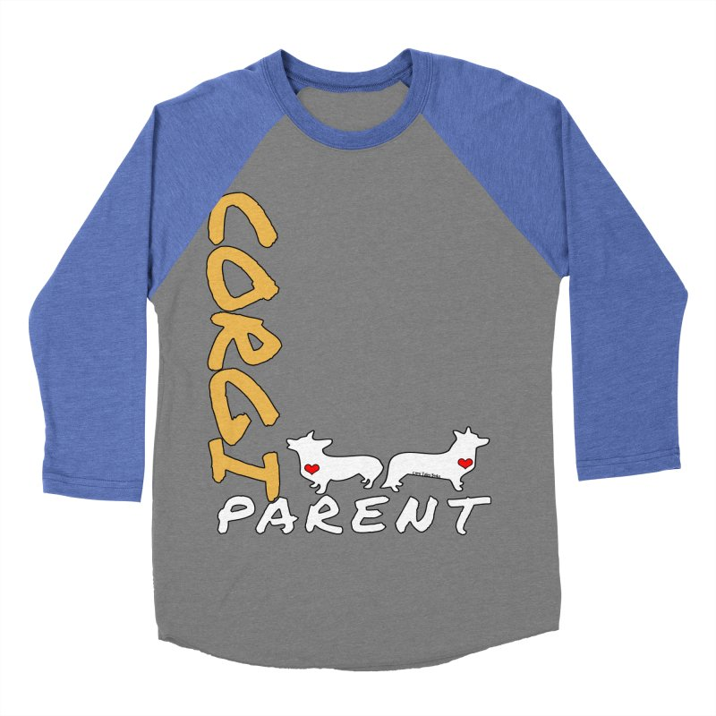 Corgi Parent Men's Baseball Triblend Longsleeve T-Shirt by Corgi Tales Books