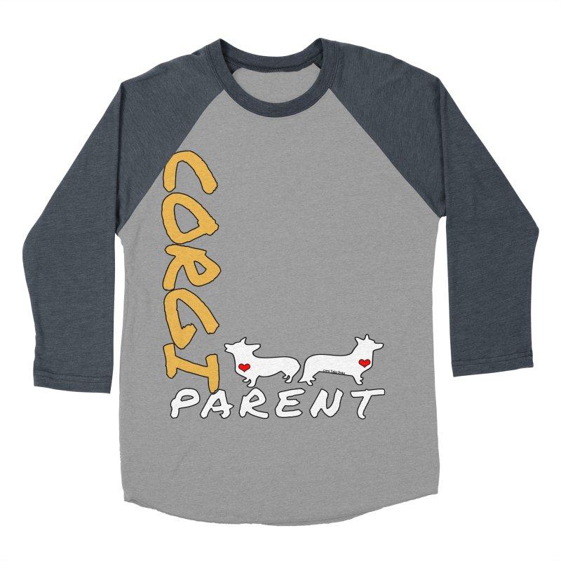Corgi Parent Men's Baseball Triblend T-Shirt by Corgi Tales Books
