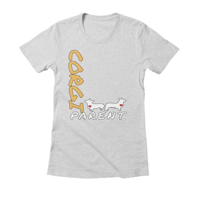 Corgi Parent Women's Fitted T-Shirt by Corgi Tales Books