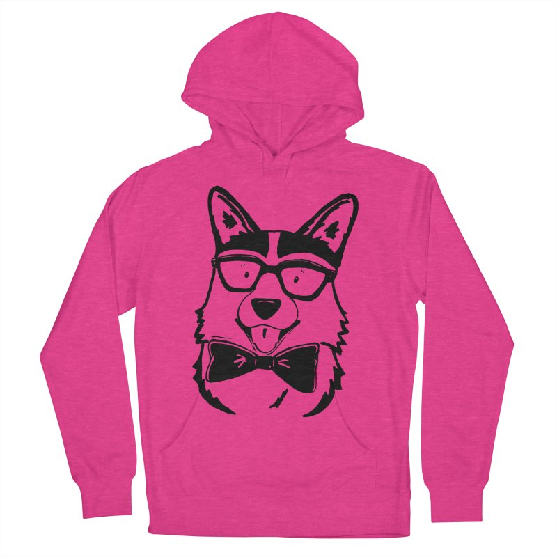 Bowtie Corgi Men's French Terry Pullover Hoody by Corgi Tales Books