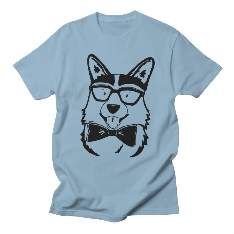 Bowtie Corgi Men's Regular T-Shirt by Corgi Tales Books