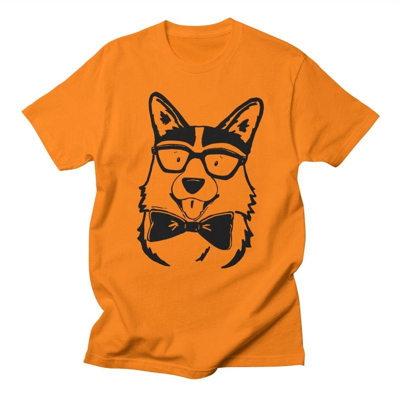 Bowtie Corgi Men's Regular T-Shirt by Corgi Tales Books