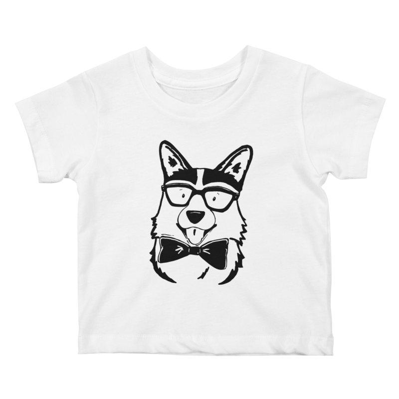 Bowtie Corgi Kids Baby T-Shirt by Corgi Tales Books