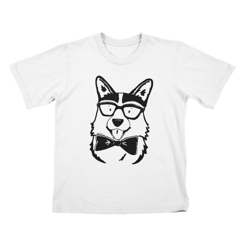 Bowtie Corgi Kids T-Shirt by Corgi Tales Books