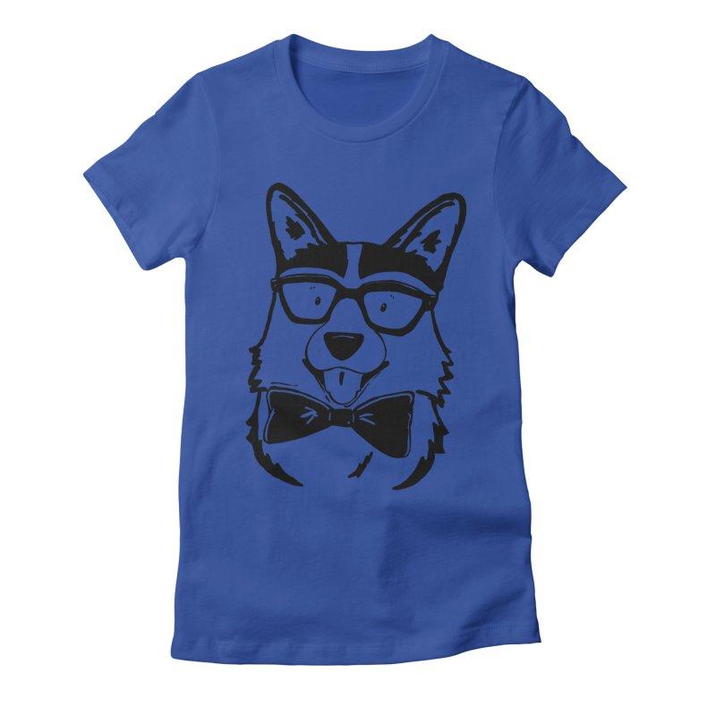 Bowtie Corgi Women's Fitted T-Shirt by Corgi Tales Books
