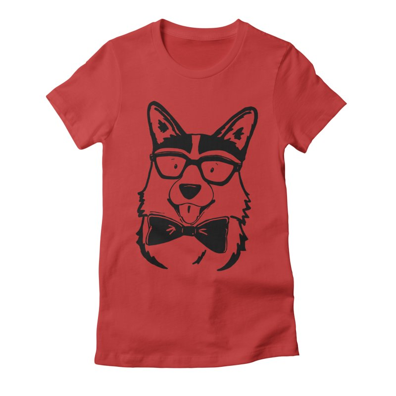 Bowtie Corgi Women's Fitted T-Shirt by Corgi Tales Books