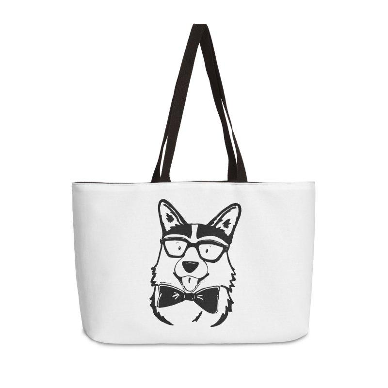 Bowtie Corgi Accessories Weekender Bag Bag by Corgi Tales Books