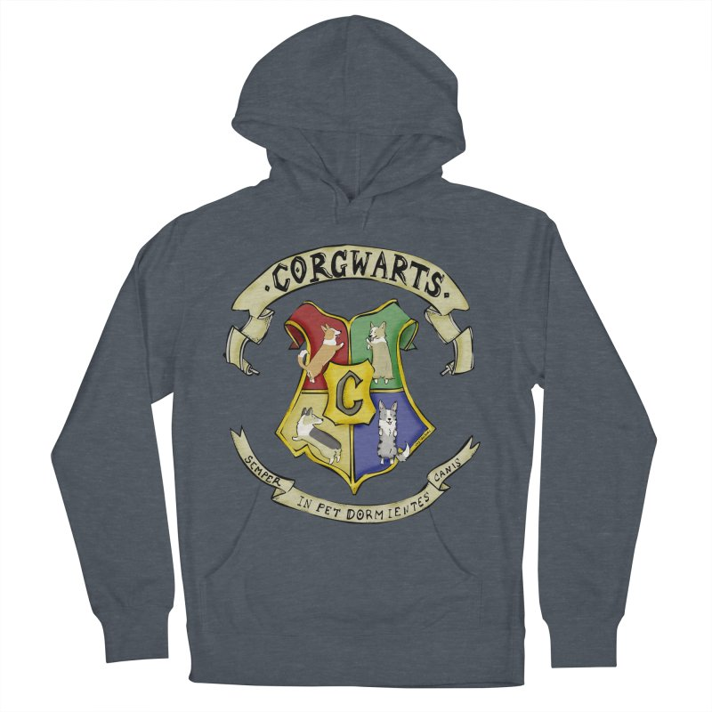 Corgwarts Crest Women's French Terry Pullover Hoody by Corgi Tales Books