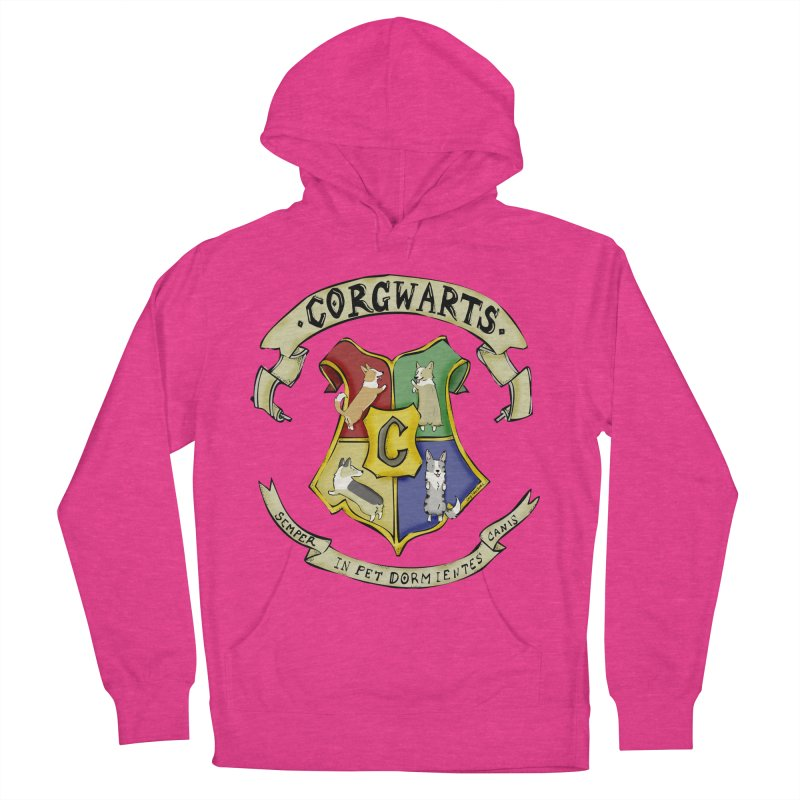 Corgwarts Crest Men's Pullover Hoody by Corgi Tales Books