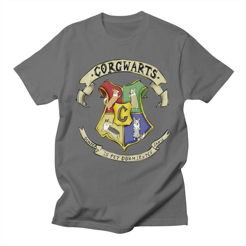 Corgwarts Crest Men's T-Shirt by Corgi Tales Books