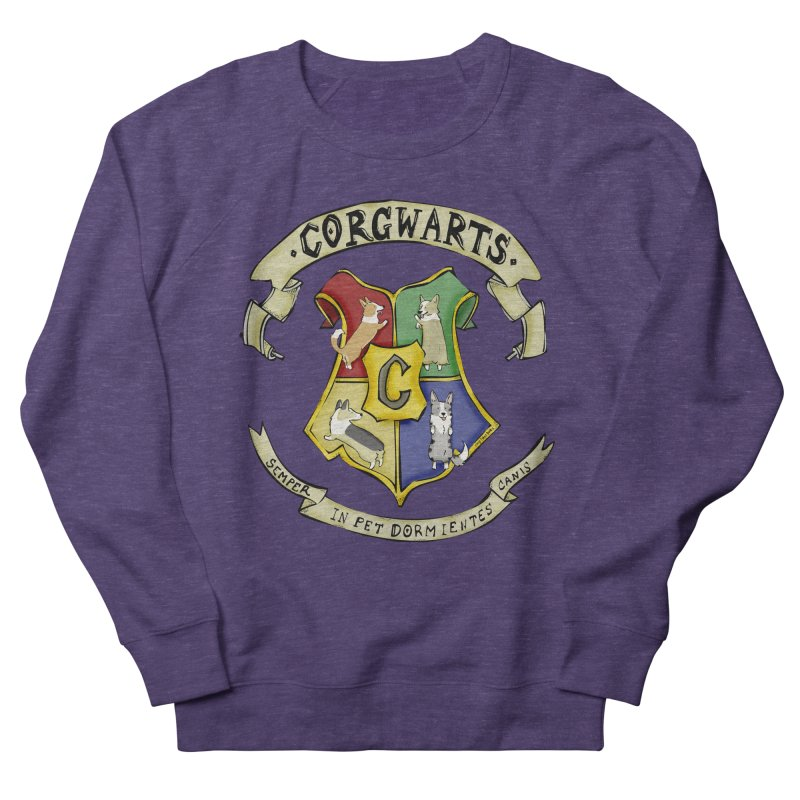 Corgwarts Crest Women's French Terry Sweatshirt by Corgi Tales Books