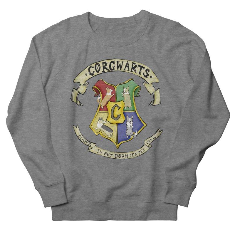 Corgwarts Crest Women's French Terry Sweatshirt by Corgi Tales Books