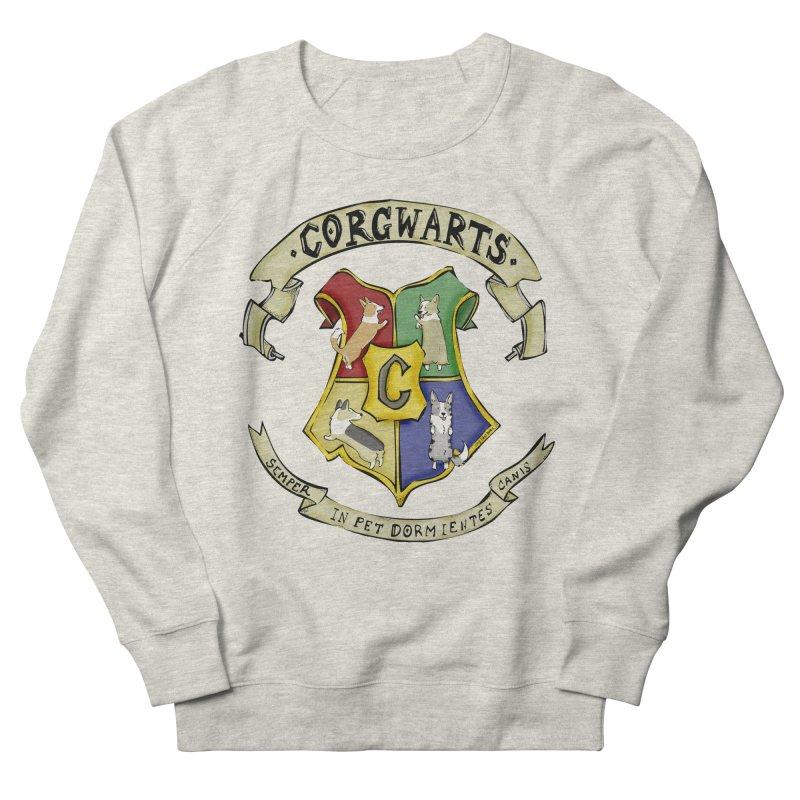 Corgwarts Crest Men's Sweatshirt by Corgi Tales Books