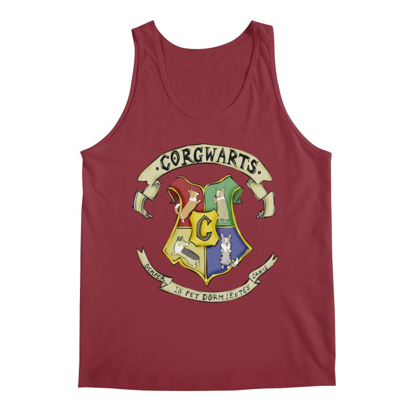 Corgwarts Crest Men's Tank by Corgi Tales Books