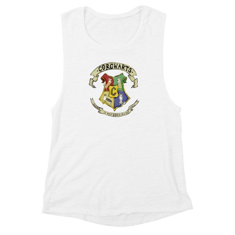 Corgwarts Crest Women's Muscle Tank by Corgi Tales Books