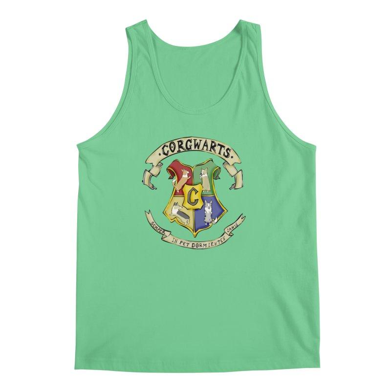 Corgwarts Crest Men's Regular Tank by Corgi Tales Books