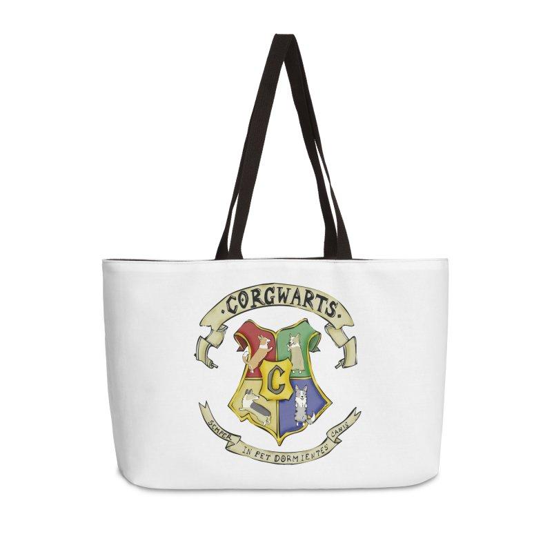 Corgwarts Crest Accessories Weekender Bag Bag by Corgi Tales Books