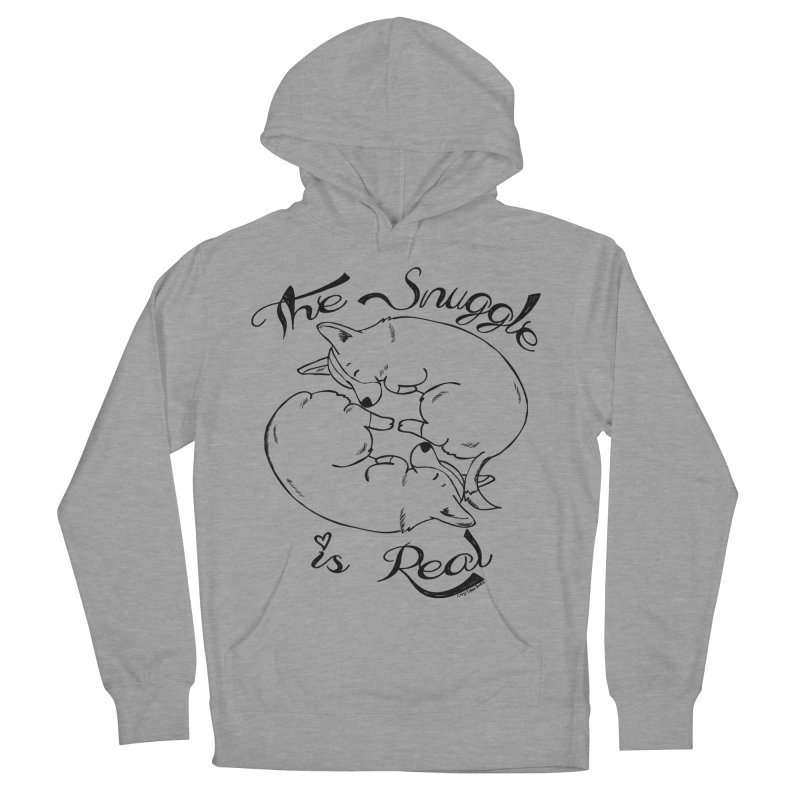 The Snuggle is Real Women's French Terry Pullover Hoody by Corgi Tales Books