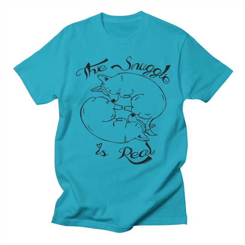 The Snuggle is Real Men's T-Shirt by Corgi Tales Books