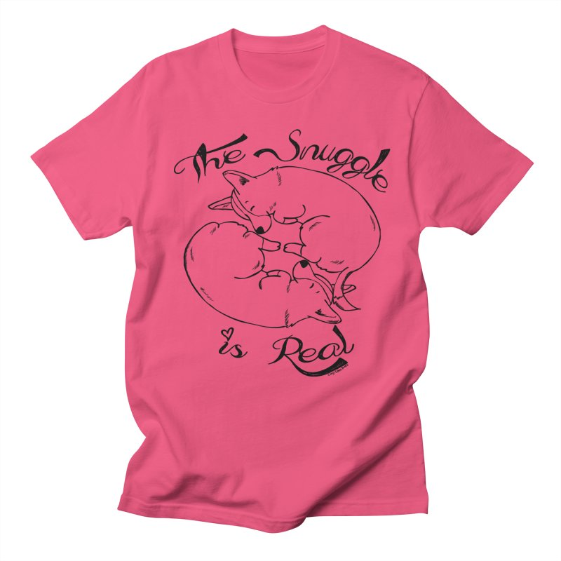 The Snuggle is Real Men's Regular T-Shirt by Corgi Tales Books