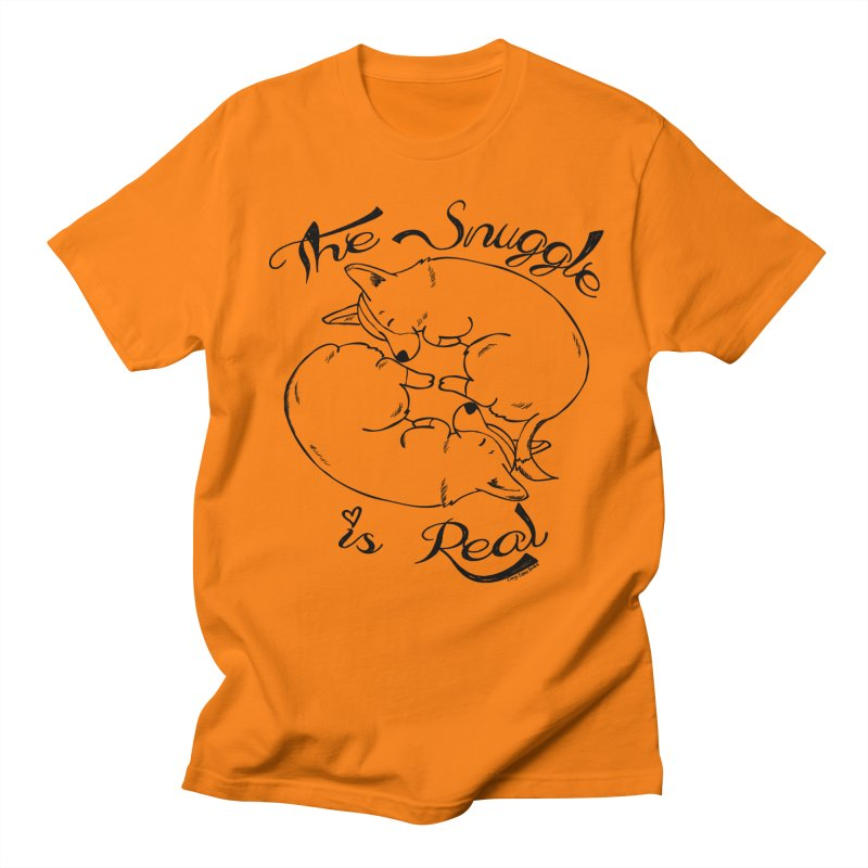 The Snuggle is Real Men's Regular T-Shirt by Corgi Tales Books