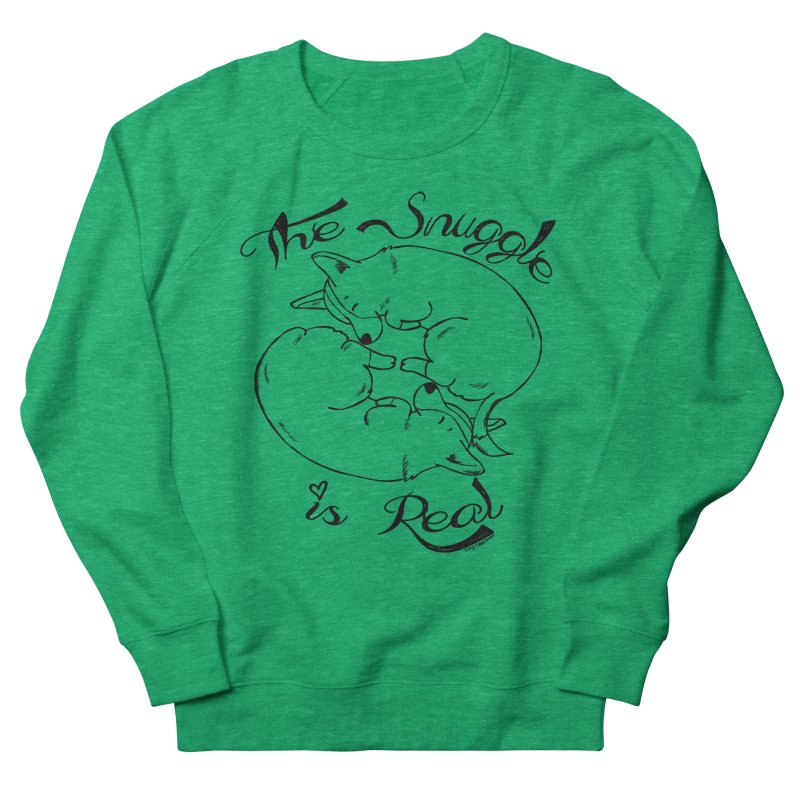 The Snuggle is Real Men's Sweatshirt by Corgi Tales Books