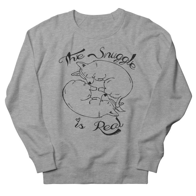 The Snuggle is Real Men's Sweatshirt by Corgi Tales Books