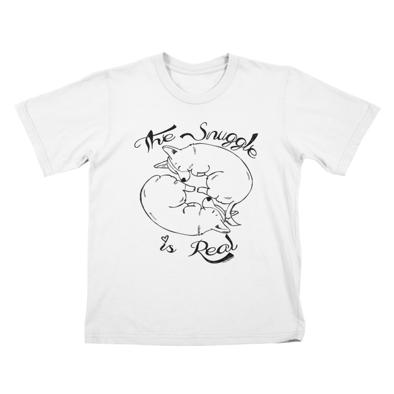 The Snuggle is Real Kids T-Shirt by Corgi Tales Books