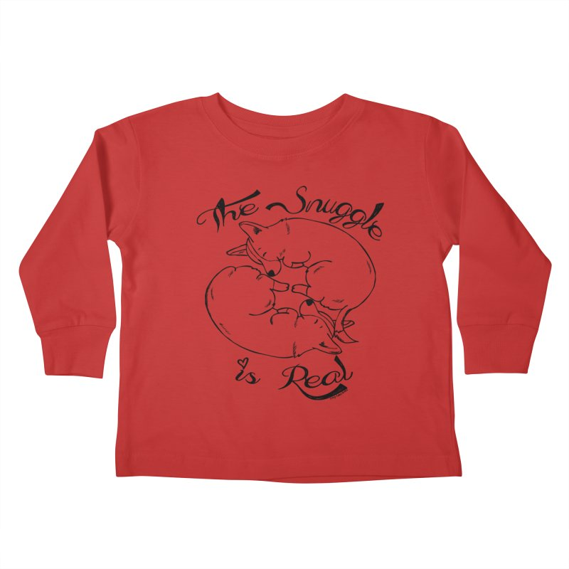The Snuggle is Real Kids Toddler Longsleeve T-Shirt by Corgi Tales Books