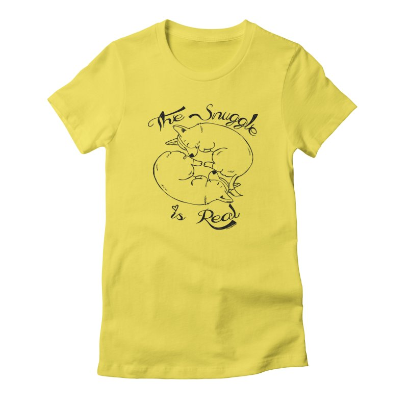 The Snuggle is Real Women's T-Shirt by Corgi Tales Books