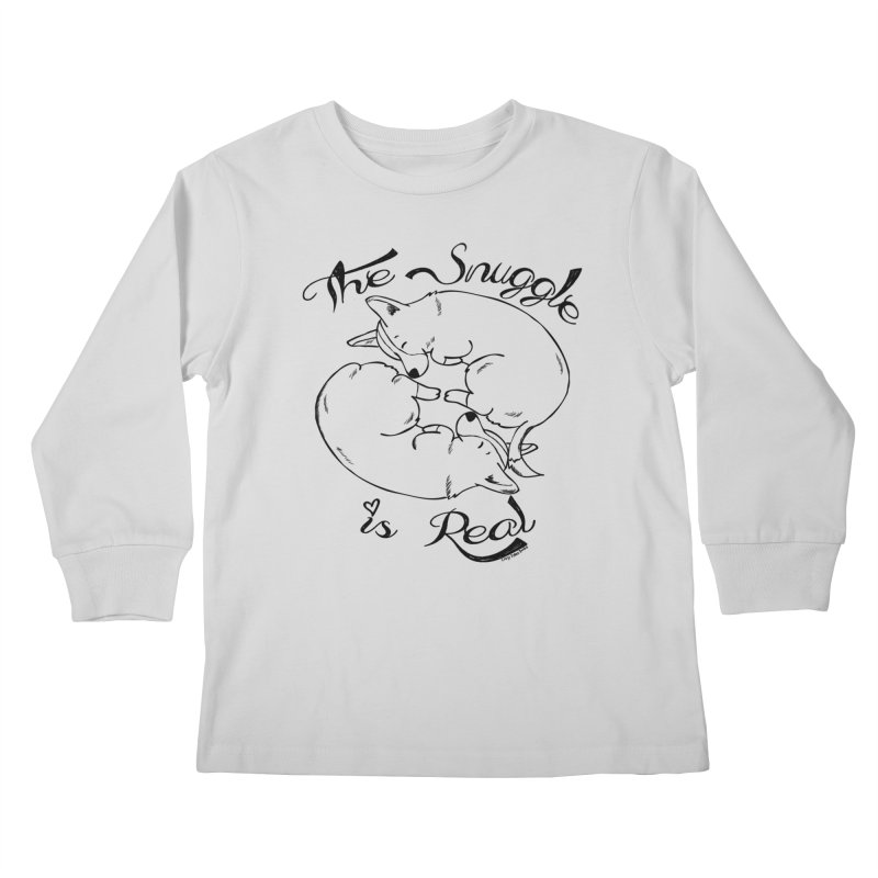 The Snuggle is Real Kids Longsleeve T-Shirt by Corgi Tales Books