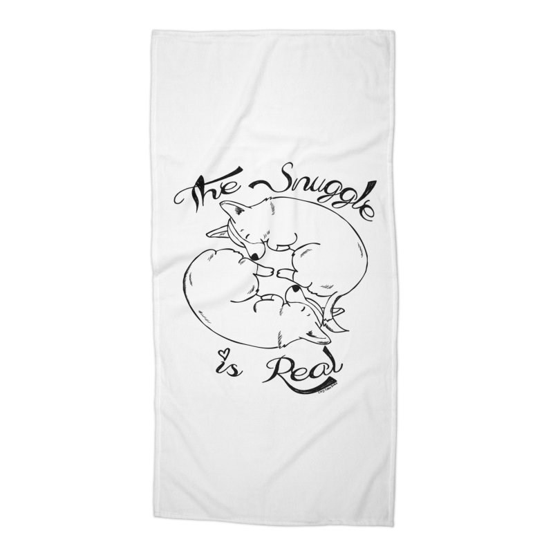 The Snuggle is Real Accessories Beach Towel by Corgi Tales Books