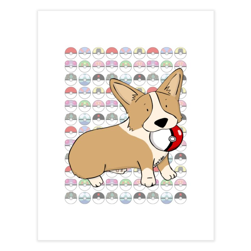 PokeCorg Home Fine Art Print by Corgi Tales Books