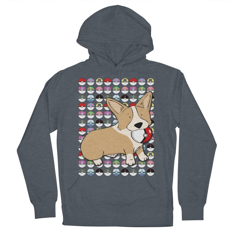 PokeCorg Men's French Terry Pullover Hoody by Corgi Tales Books