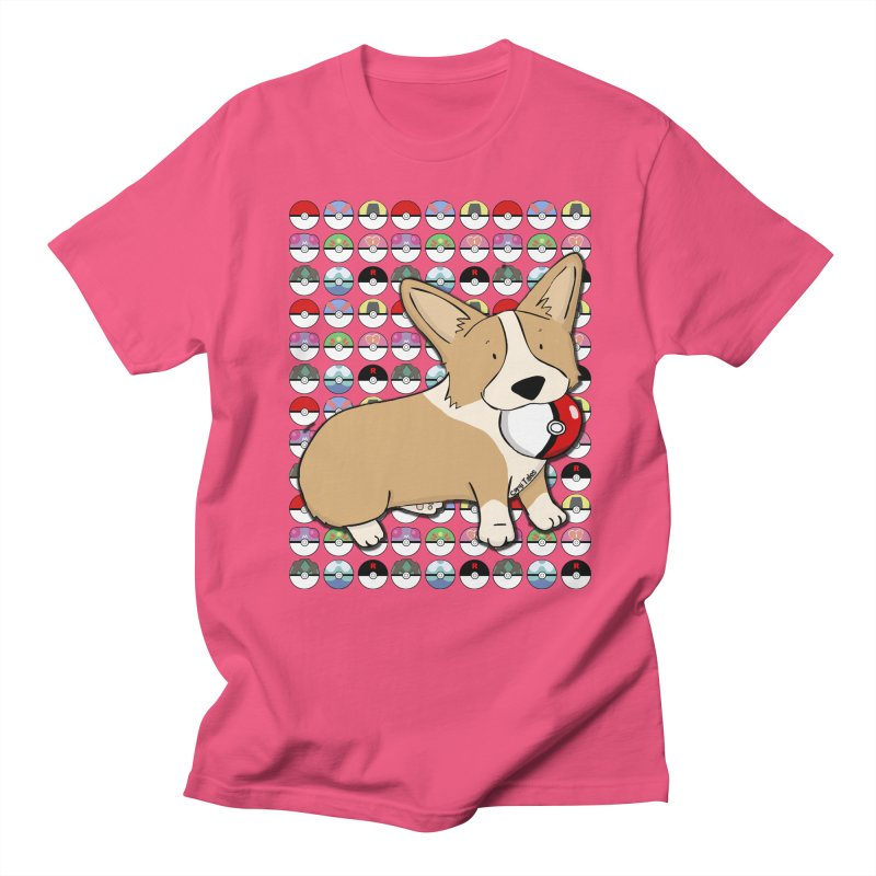 PokeCorg Men's Regular T-Shirt by Corgi Tales Books