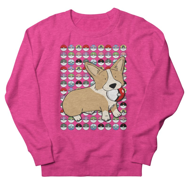 PokeCorg Men's French Terry Sweatshirt by Corgi Tales Books