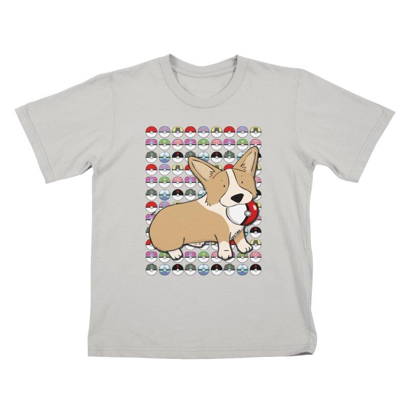 PokeCorg Kids T-Shirt by Corgi Tales Books