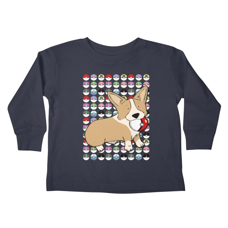 PokeCorg Kids Toddler Longsleeve T-Shirt by Corgi Tales Books