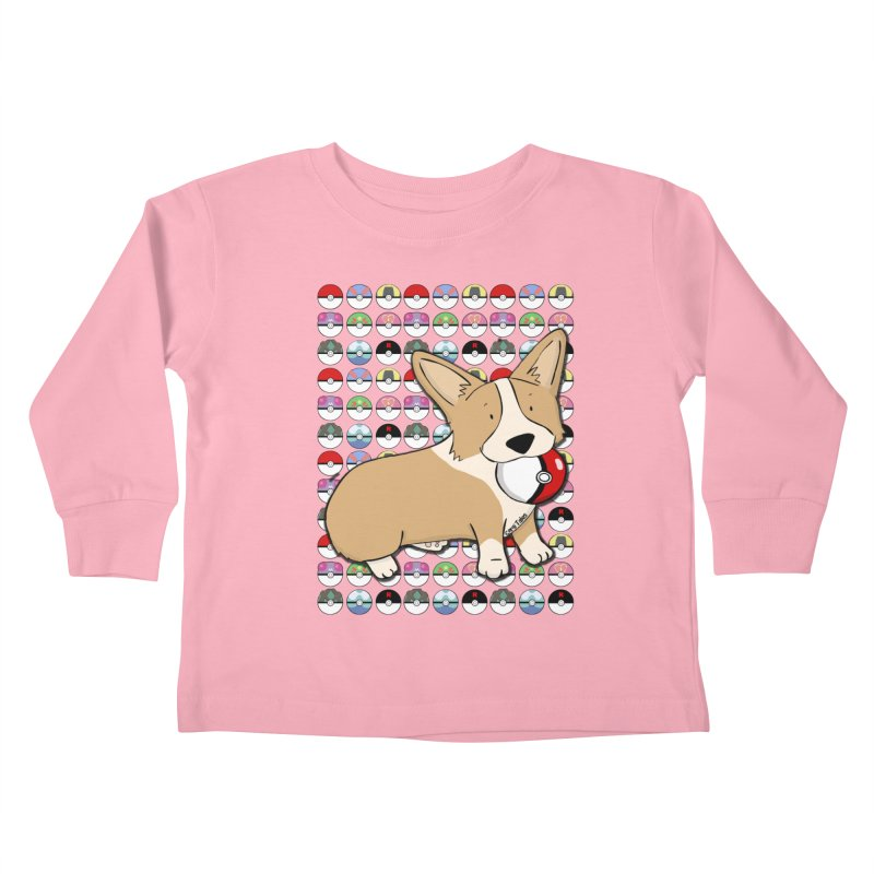 PokeCorg Kids Toddler Longsleeve T-Shirt by Corgi Tales Books