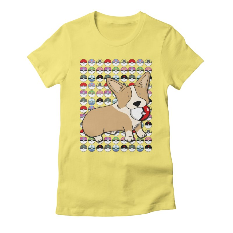 PokeCorg Women's Fitted T-Shirt by Corgi Tales Books