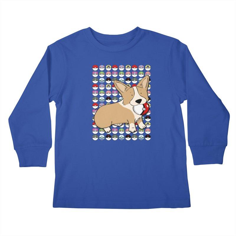 PokeCorg Kids Longsleeve T-Shirt by Corgi Tales Books