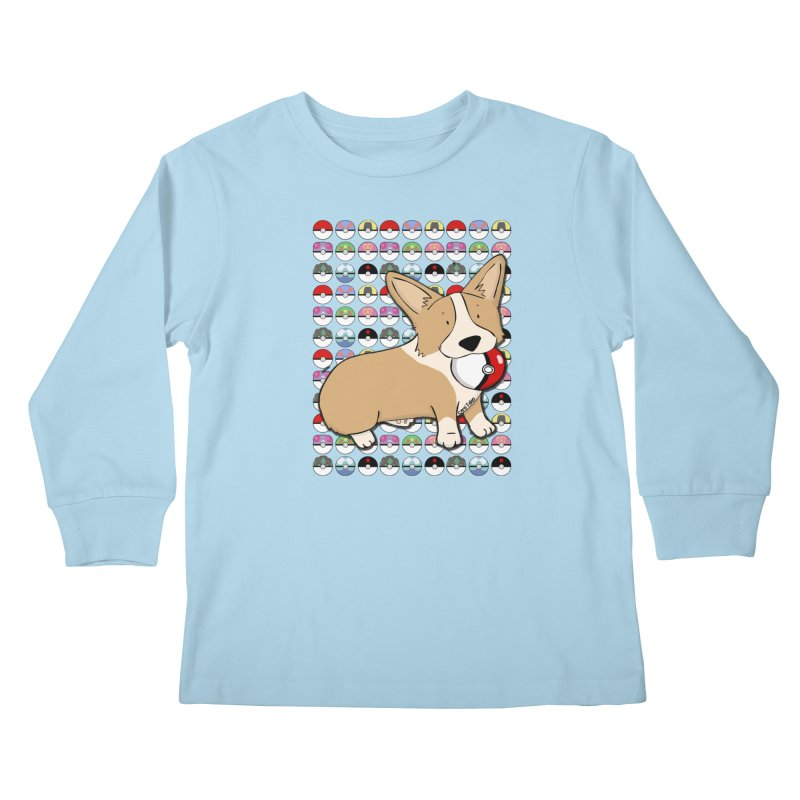 PokeCorg Kids Longsleeve T-Shirt by Corgi Tales Books