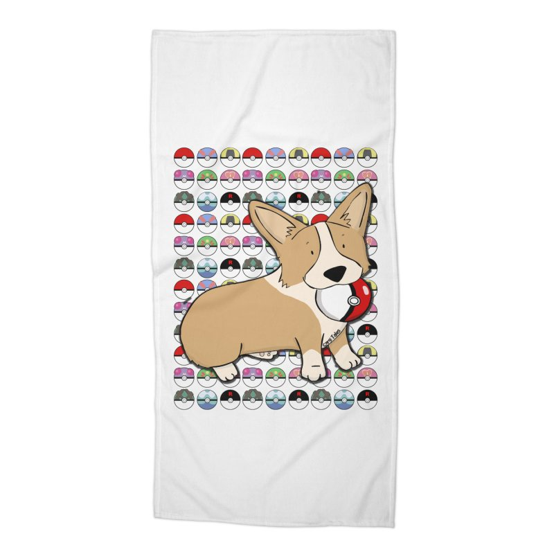 PokeCorg Accessories Beach Towel by Corgi Tales Books