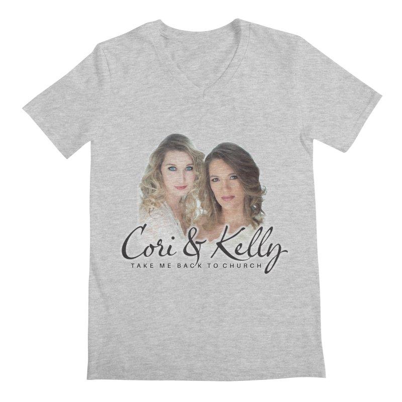 Take Me Back to Church Men's Regular V-Neck by Cori & Kelly Official Merchandise