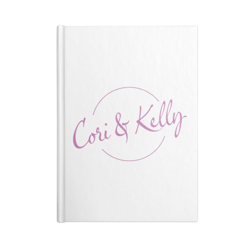 Pink Logo Accessories Blank Journal Notebook by Cori & Kelly Official Merchandise