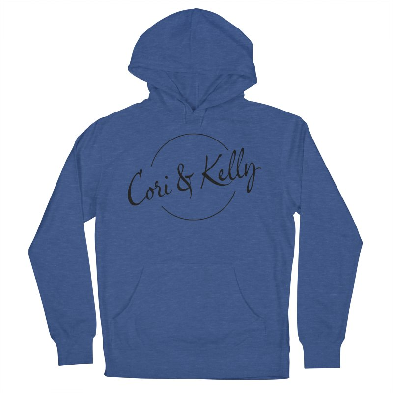 Black Logo Men's French Terry Pullover Hoody by Cori & Kelly Official Merchandise