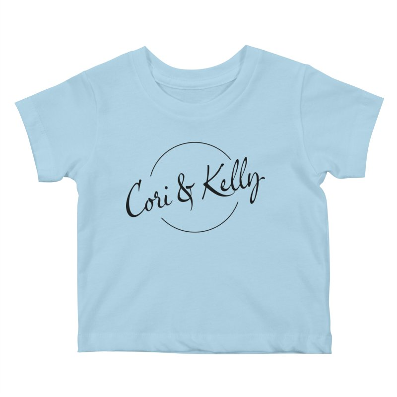 Black Logo Kids Baby T-Shirt by Cori & Kelly Official Merchandise