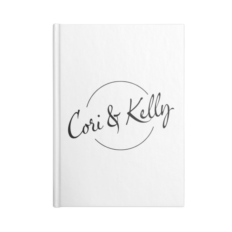 Black Logo Accessories Lined Journal Notebook by Cori & Kelly Official Merchandise