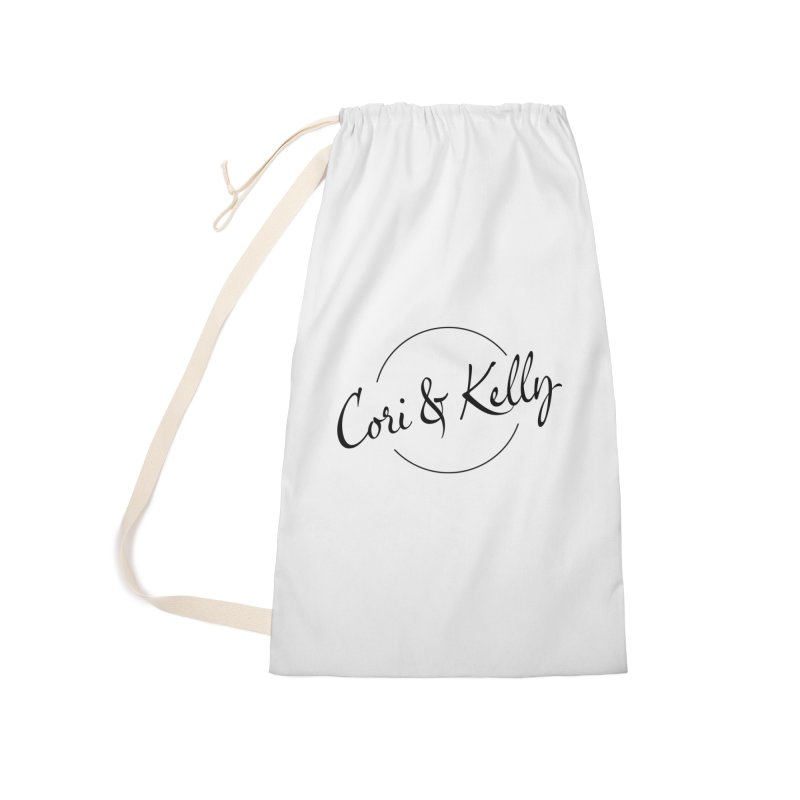 Black Logo Accessories Laundry Bag Bag by Cori & Kelly Official Merchandise