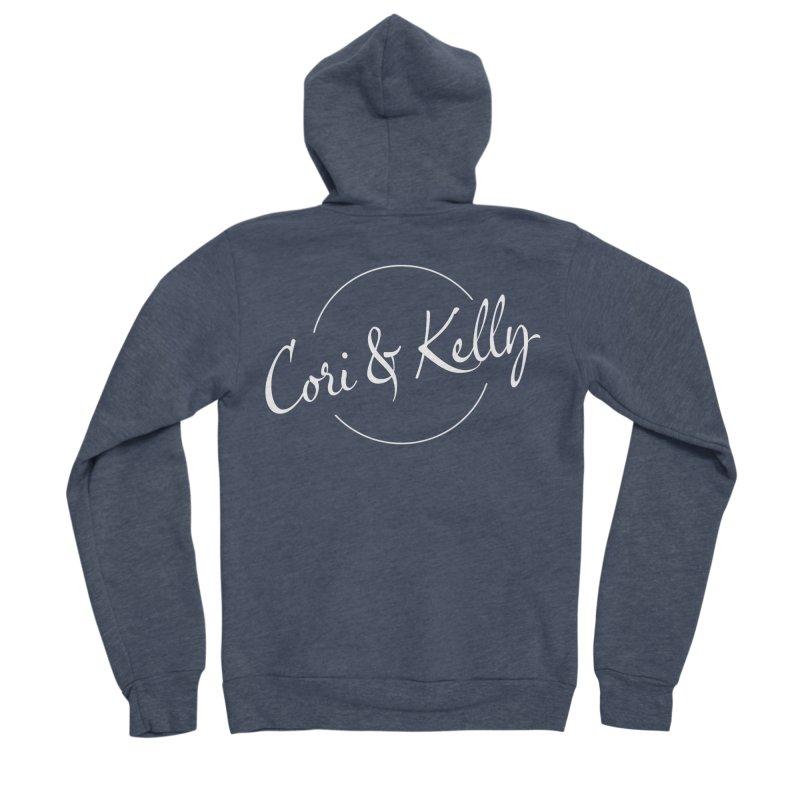 White Logo Women's Sponge Fleece Zip-Up Hoody by Cori & Kelly Official Merchandise